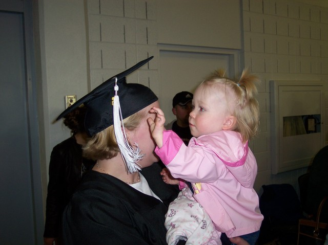 Camille with Emma at her Graduation from Utah State University