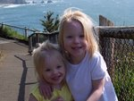 Emma and Sarah at Cape Meares