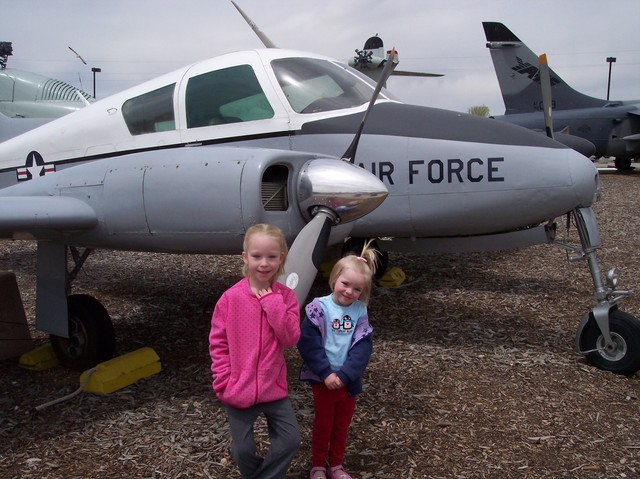 Emma and Sarah at Air Force Museum