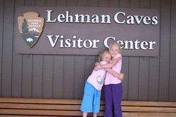Emma and Sarah at Lehman Caves