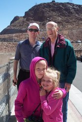 Emma, Sarah, David, Tom at Hoover Dam