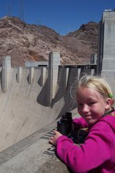Emma at Hoover Dam