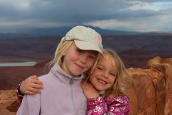 Emma and Sarah at Dead Horse Point