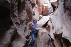 Emma on the Little Wild Horse Canyon Trail