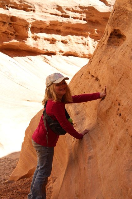 Sarah on the Little Wild Horse Canyon Trail