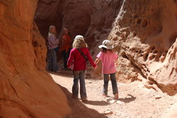Emma and Sarah with Aedin and Winrey Richardson on the Little Wild Horse Canyon Trail