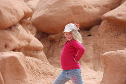 Sarah in Goblin Valley