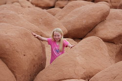 Emma in Goblin Valley