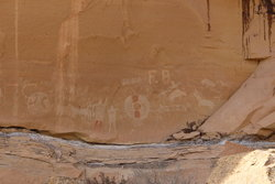 Petroglyphs in Sego Canyon