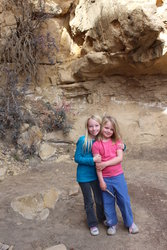 Emma and Sarah in Sego Canyon