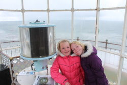 Emma and Sarah in North Head Lighthouse