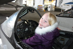 Emma at Tillamook Air Museum
