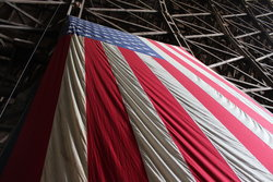 American Flag at Tillamook Air Museum