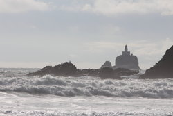 Tillamook Rock Lighthouse from Indian Beach at Ecola State Park