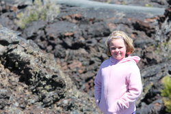 Sarah at Craters of the Moon