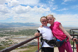 Emma and Sarah at Ensign Peak