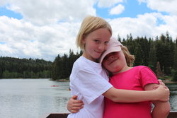 Emma and Sarah at Payson Lakes