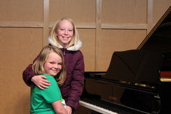 Sarah and Emma at Steve's Piano Students' Recital
