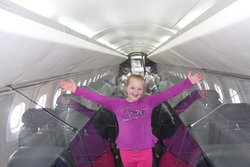 Sarah on board the Concorde