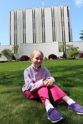 Emma at the Seattle Temple