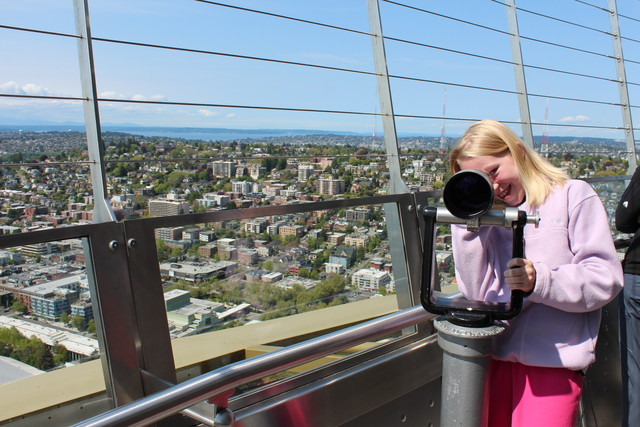 Emma in the Space Needle Restaurant
