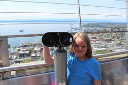 Sarah atop the Space Needle