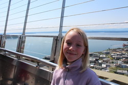 Emma atop the Space Needle