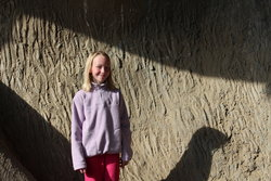 Emma by the Fremont Troll in Seattle
