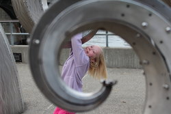 Emma by the Chittenden Locks in Seattle