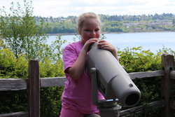 Sarah at Tacoma Narrows