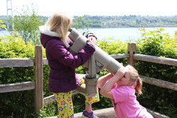 Emma and Sarah at Tacoma Narrows