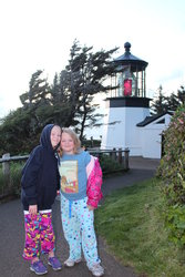 Emma and Sarah at Cape Meares Lighthouse