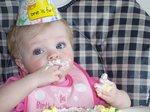 Sarah's first birthday