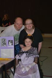Steve and Camille with Sarah as Ada Lovelace in her Wax Museum
