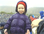 Emma at BYU football game