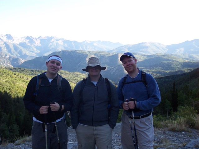 Michael, Owen, and Steve on Timp Hike