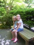 Emma and Sarah in Japanese Garden in Portland