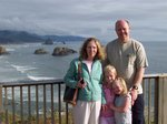 Valerie, Steve, Emma, and Sarah at Ecola State Park