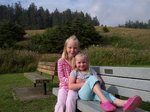 Emma and Sarah at Ecola State Park