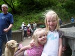 Emma and Sarah on Multnomah Falls Bridge