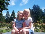 Emma and Sarah at Portland Rose Garden