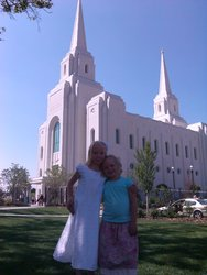 Emma and Sarah at Brigham City Temple open house