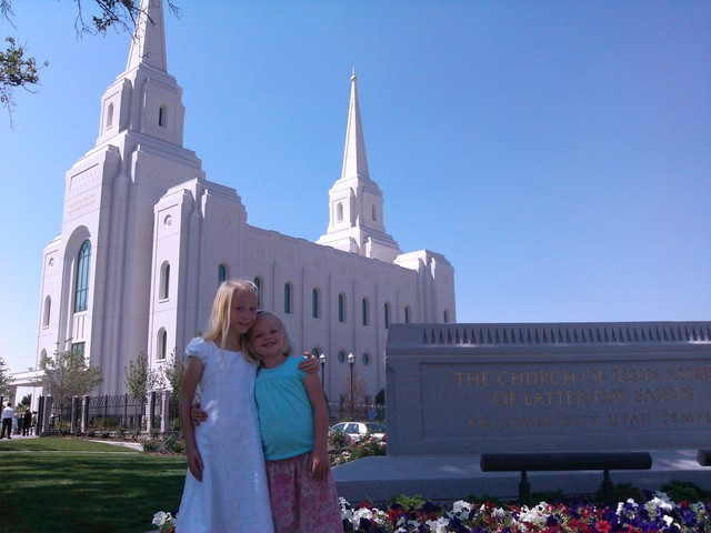 Sarah at Brigham City Temple open house