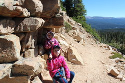 Emma and Sarah on the Bald Mountain Trail