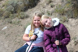 Emma and Sarah in Yellowstone