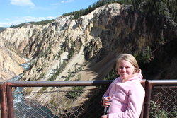 Sarah in Grand Canyon of the Yellowstone