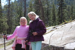 Sarah and Emma on Hidden Falls Trail in Grand Teton National Park