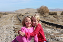Emma and Sarah at Golden Spike
