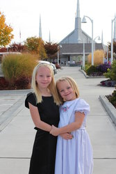 Sarah and Emma at Boise Temple Open House
