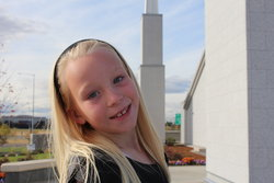 Emma at Boise Temple Open House